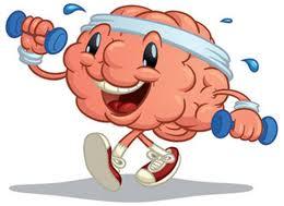 blue brain lifting weights