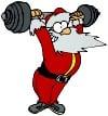 Santa-Weight-Lifting-Weights